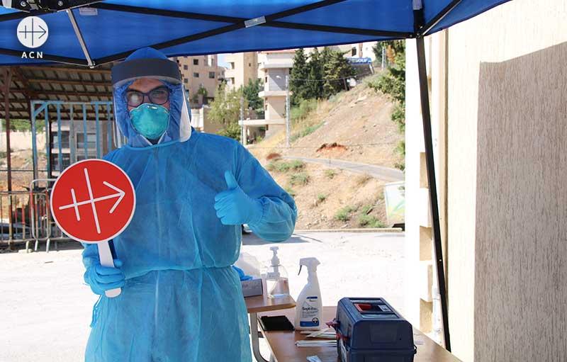 레바논의 코로나19 검사 센터 설립 (출처=ACN 자료사진)