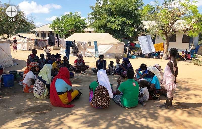 모잠비크 카도델가도 난민들을 위한 사목 및 트라우마 치료 지원 (출처=ACN 자료사진)
