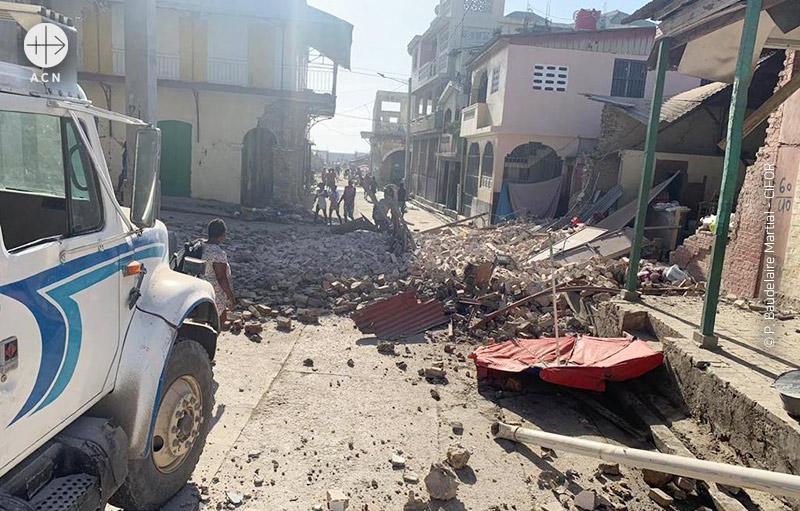 아이티 강진 직후 모습 (출처=ACN 자료사진)